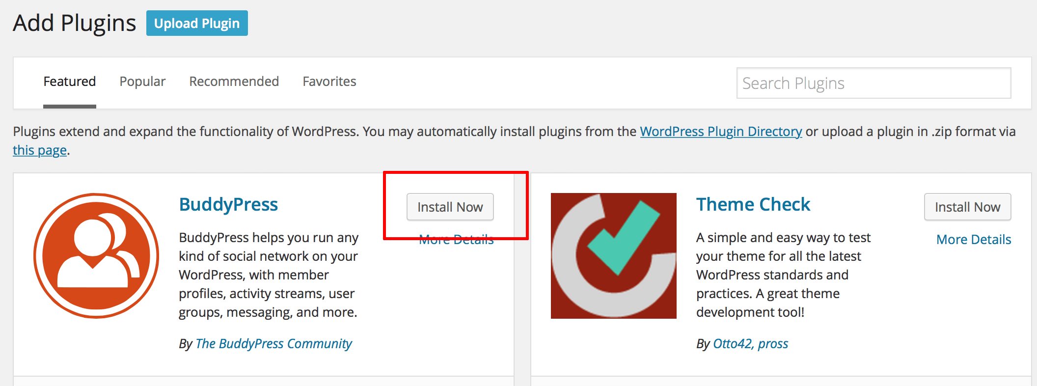 wordpress installazione plugin